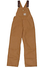 Carhartt® Boys' Brown Washed Bib Overall Sizes 8-16