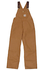 Carhartt® Kids' Brown Washed Bib Overall Sizes 4-7
