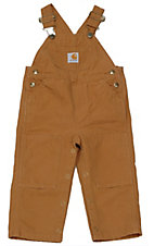 Carhartt® Infants' Brown Washed Bib Overall Sizes 3M-24M