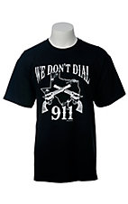 Spectrum® Men's Black We Don't Call 911 Short Sleeve Tee