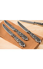 M&F Western Products® Silverado Engraved Steak Knives 4 Piece Set