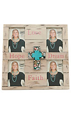 M&F Western Products® Hope, Love, Dream, & Faith 4 Photo Shadow Box Frame 4x6