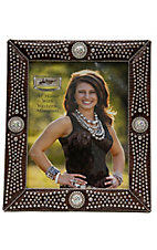 M&F® Western Moments™ Jeweled Brown Croc Print w/ Rhinestone Concho Picture Frame 8x10