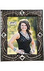 M&F® Western Moments™ Jeweled Black Croc Print w/ Rhinestone Concho Picture Frame 8x10