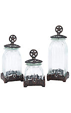 M&F Western Products® Silverado Glass 3 Piece Canister Set