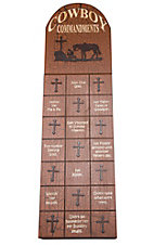 M&F Western Products® Cowboy Commandments Wooden Wall Plaque
