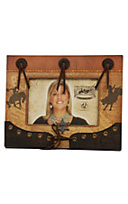 M&F® Western Moments™ Brown Bronc and Bull Rider Scrapbook Picture Frame