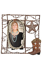 M&F Western Products® Barbed Wire Picture Frame (4x6in)