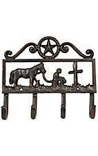 M&F Western Products® Cast Iron Cowboy Prayer Coat Hanger
