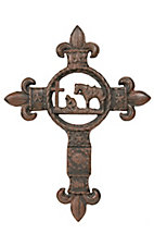 M&F Western Products® Cowboy Prayer w/ Fleur De Lis Wall Cross