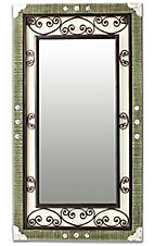 M&F Western Products® Iron Scrolled Wood Frame Mirror