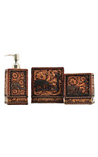 M&F® Western Moments™ God Bless Our Home Kneeling Cowboy Bathroom Set