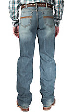 Cinch Men's Medium Wash Britt Mid Rise Straight Leg Jeans