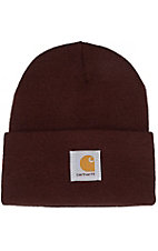 Carhartt® Dark Brown Acrylic Knit Watch Cap