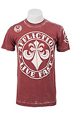 Affliction® Men's Red Divio Short Sleeve Tee