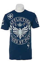 Affliction Men's Navy GSP Seal Short Sleeve Tee