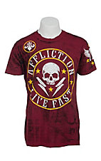 Affliction Men's Red Divio Shockwave Reversible Crewneck Short Sleeve Tee