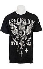 Affliction® Men's Black Brixton Icon Short Sleeve Supertee - Relaxed Fit