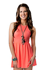 Ocean Drive® Women's Neon Pink Open Back Sleeveless Tank Dress