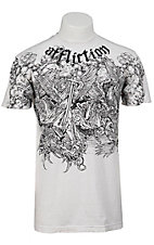 Affliction® Men's Angels White with Black Print Short Sleeve Logo Tee