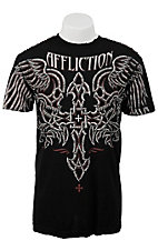 Affliction® Men's Black Inked Short Sleeve Tee