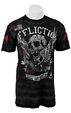 Affliction® Men's Black Wing of Fury Short Sleeve Tee