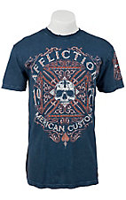 Affliction® Men's Navy Blue Death Cross Short Sleeve Tee