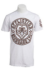 Affliction Men's White Radar Tech Short Sleeve Tee