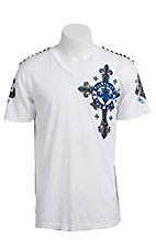 Affliction® Men's White Lifeless Short Sleeve V-Neck Tee