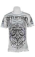 Affliction Men's White Science Reversible Crewneck Short Sleeve Tee