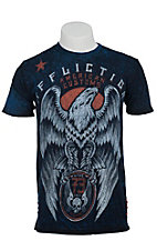 Affliction Men's Blue Regal Reversible Short Sleeve Tee