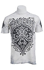 Affliction Men's Vintage White Brewski Crewneck Short Sleeve Tee