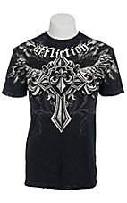 Affliction Men's Black Ayala Crewneck Short Sleeve Tee