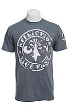 Affliction Men's Silver Divio Short Sleeve Tee