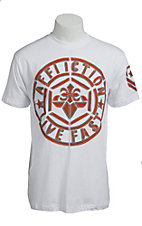 Afflicition Men's White Build Up Logo Patch Short Sleeve Tee