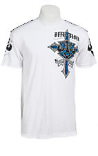 Affliction Men's White Lifeline Crewneck Short Sleeve Tee