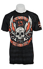 Affliction Men's Black Alhambra Reversible Short Sleeve Tee