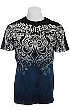 Affliction Men's Black Step of Honor Crewneck Short Sleeve Tee