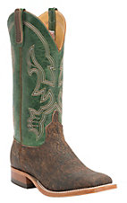 Anderson Bean Men's Rust Safari Giraffe with Emerald Top Square Toe Western Boots