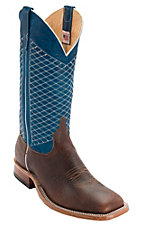 Anderson Bean® Mens Mike Tyson Bison w/ Blue Lava Square Toe Western Boot