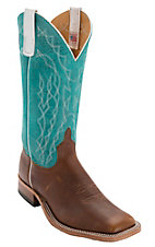 Anderson Bean® Men's Briar w/ Turquoise Sinsation Double Welt Square Toe Western Boot