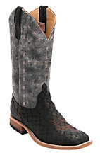 Anderson Bean® Men's Black Loch Ness w/ Midnight Monet Double Welt Square Toe Western Boot