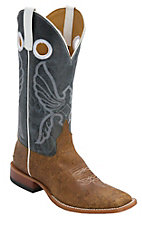 Anderson Bean® Horse Power™ Mens Tan Mohawk w/ Blue Aspen Square Toe Boots