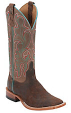 Anderson Bean® Horse Power™ Men's Moka Brown w/ Bone Top Square Toe Western Boots