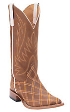 Anderson Bean Horse Power Men's Brass Monkey Zigzag Patchwork Square Toe Western Boots