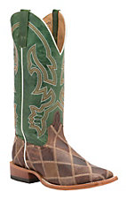 Anderson Bean Horse Power Men's Thunderstuck Patchwork with Emerald Explosion Top Square Toe Western Boots