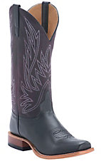 Anderson Bean® Horse Power™ Men's Black Magic Calf w/ Sangria Wine Top Punchy Square Toe Western Boots