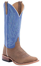 Anderson Bean Horse Power Mens Honey Crazy Horse w/ Royal Blue Sinsation Top Puncy Square Toe Boots