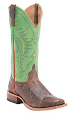 Anderson Bean Horse Power Mens Moka Pit Bull w/ Kiwi Sinsation Top Punchy Square Toe Boots