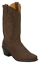 Abilene® Men's Brown with Laced Shaft Snip Toe Western Boots